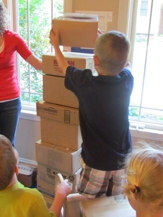 All you need is a box! By Teach Preschool Get round to doing this....you've got the boxes!!!