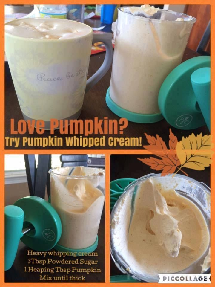 OH do I love this gaget :D So do the boys LOL Yummy!! Pumpkin Whipped Cream! Make it in the NEW Pampered Chef Whipped Cream maker! Item number 1461 www.pcwithlisa.com