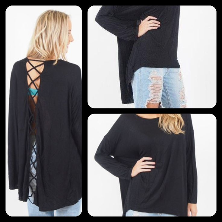 Criss Cross Back Oversized top in Black or Grey yours for AUD$25 + P&H, or free pick up from Parkdale,Victoria. Criss cross open back detail, Oversized style fit, Super soft fabric, Long sleeve Size 8-16