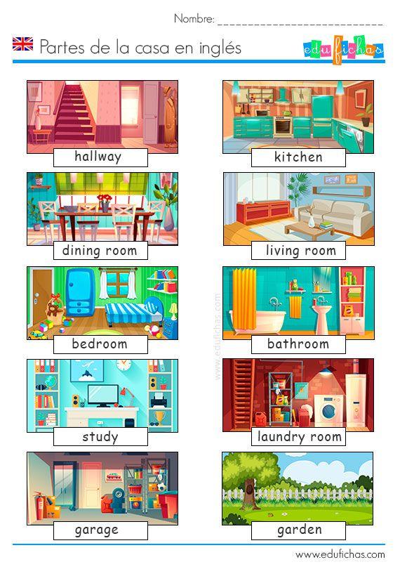 Partes De La Casa Inglés Casa En Ingles Aprender Ingles En Casa Partes De La Casa