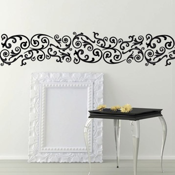 Pochoir frise arabesque maison decorative leroy merlin for Peindre sur carrelage mural