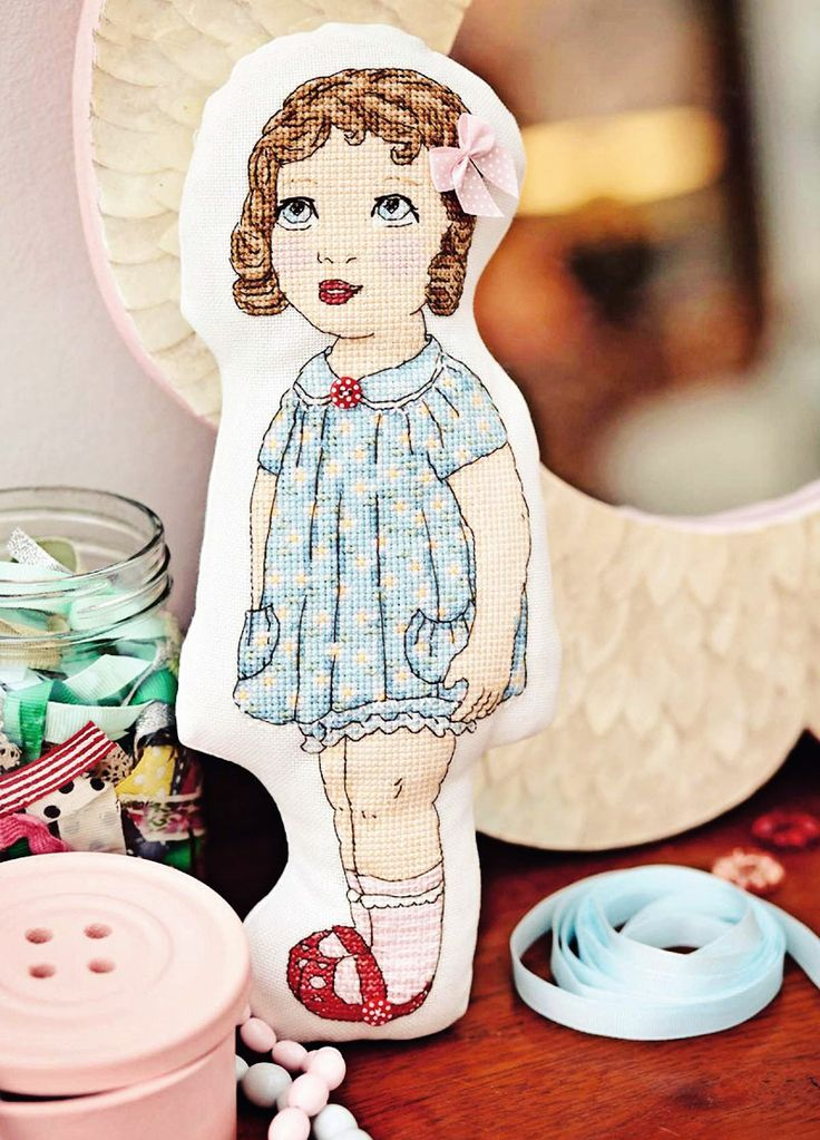 Hey, Dollface - Available in CrossStitcher Magazine 275