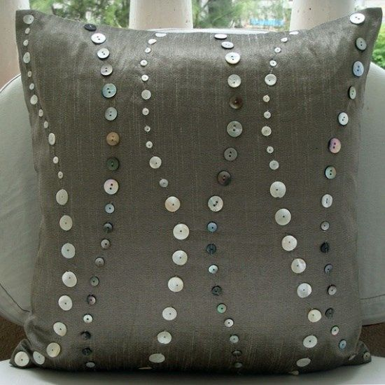 buttons on pillow