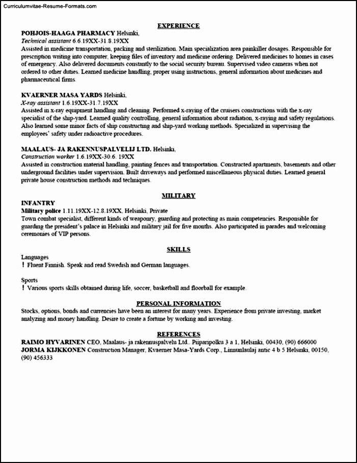 Usa Resume Format Beautiful Usa Resume Template Free Samples Examples Format In 2020 Resume Format Job Application Form In Case Of Emergency