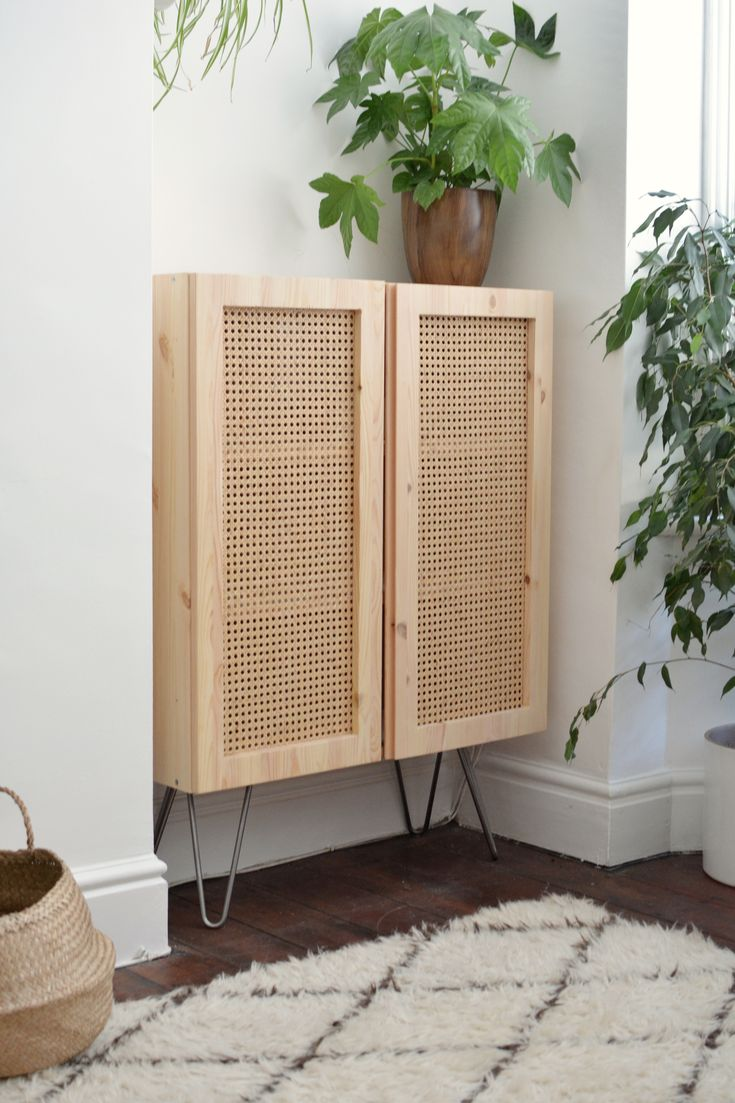 This IKEA Hack Uses Cane to Turn a Plain Cabinet Into a Design Beauty