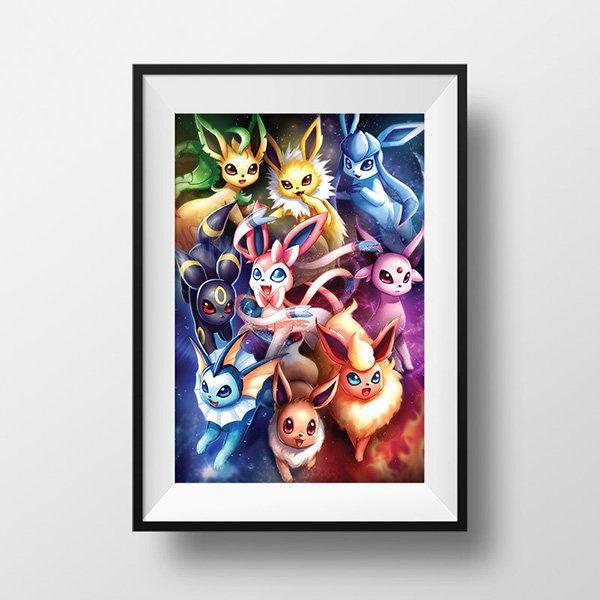 Pokemon Eeveelution Art Print Illustration