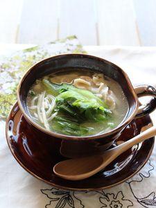 チンゲン菜とえのきと豚肉の中華風スープ by 川田 亜矢   レシピサイト ...