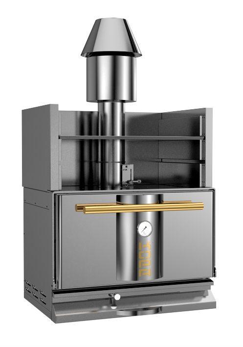 Φούρνος κάρβουνου με ειδικό θερμαινόμενο ράφι ανοξείδωτης κατασκευής kopa charcoal oven φούρνοι κάρβουνου Smart kitchen shop