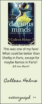 """Authorgraph from Colleen Helme for """"Devious Minds"""""""