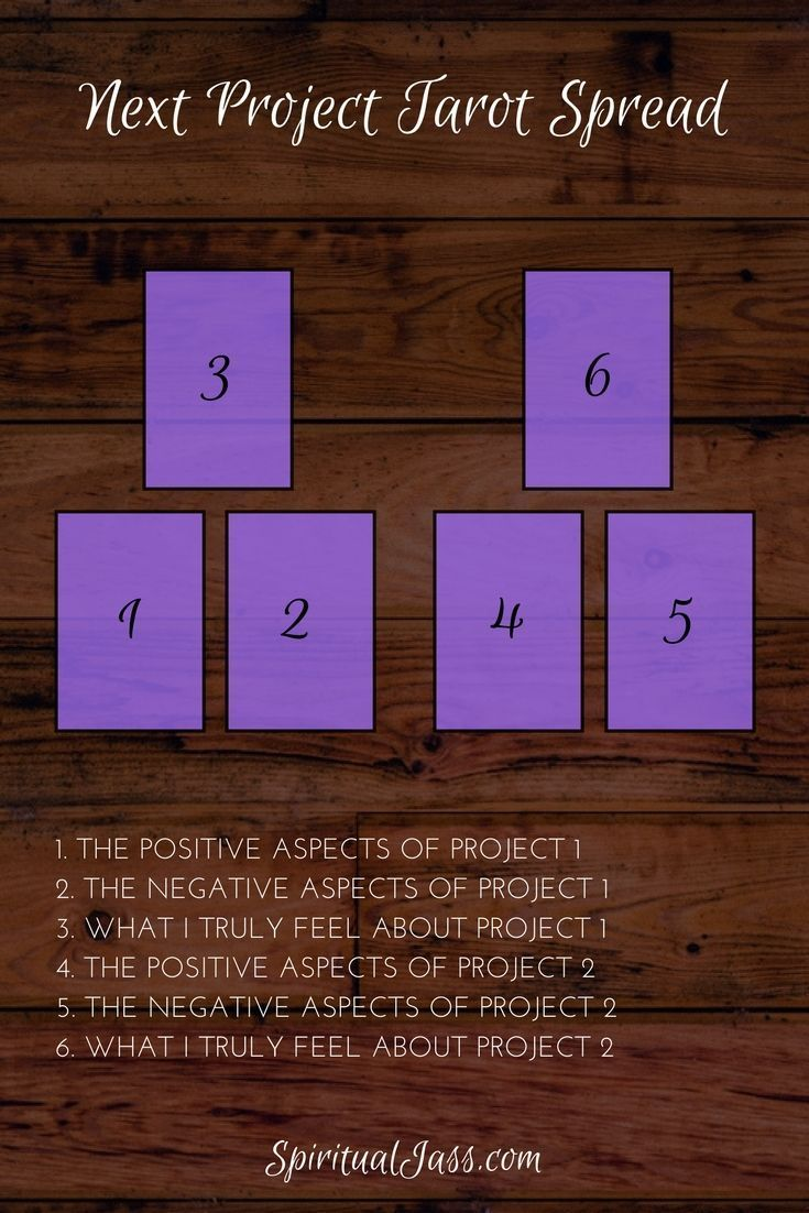 Have you ever felt overwhelmed when choosing between more than one project to work on next? Perhaps you've felt stuck because you can't decide where to go next? In this blog post, I'm breaking down a simple Tarot spread that will help you gain some guidance of which project to start next. Learn more at SpiritualJass.com #learningtarotcards #studytarot
