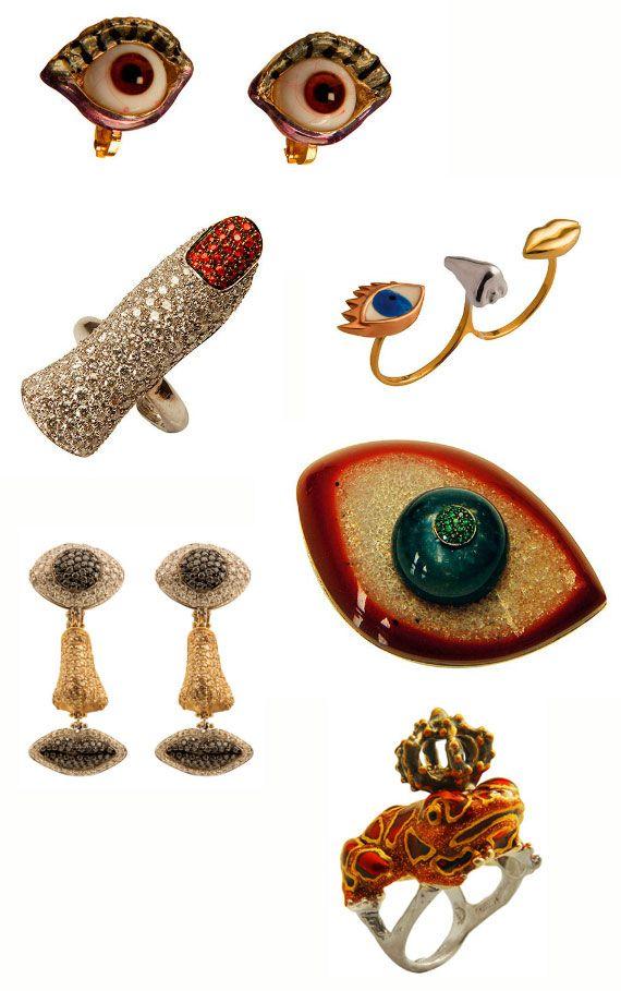 Anatomical jewelry by Delfina Delettrez