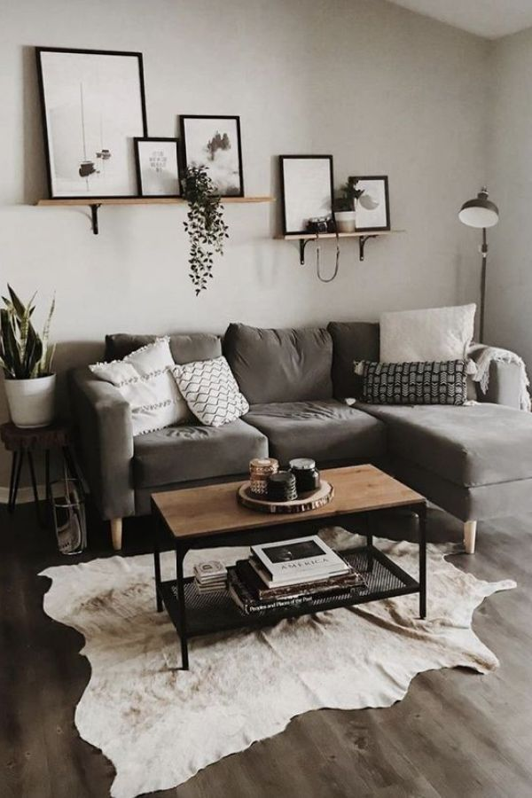 Beautiful Modern Farmhouse Living Room First Apartment Ideas 12 Modernfarmhouselivin In 2020 Grey Couch Living Room Living Room Decor Apartment Farm House Living Room