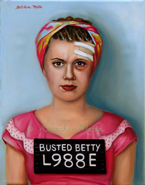 Busted Betty  Original Oil Painting by GretchenMattaStudio on Etsy