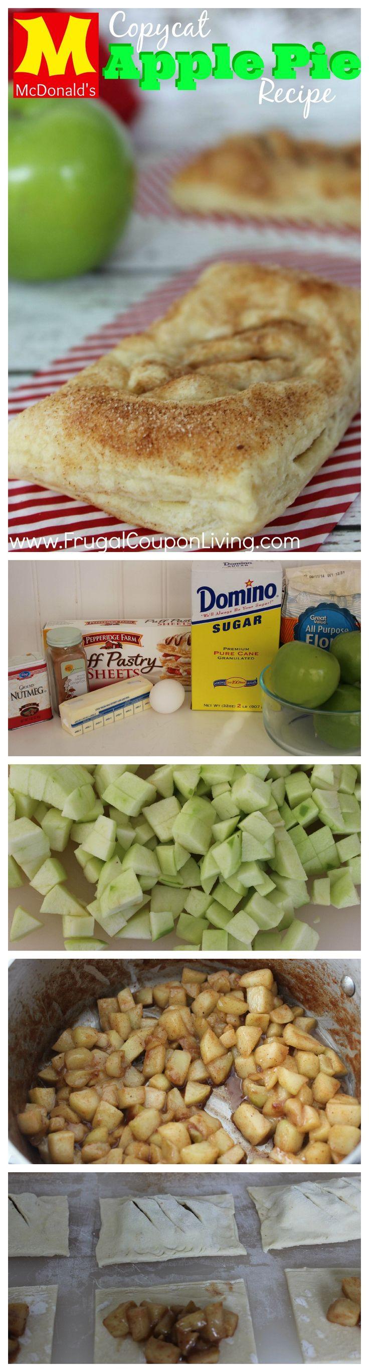 Copycat McDonald's Apple Pie Recipe – Baked Cinnamon Dessert #copycat #recipe #mcdonalds #apple #applepie #cinnamon #dessert #copycatrecipe http://www.frugalcouponliving.com/2014/07/06/copycat-mcdonalds-apple-pie-recipe/