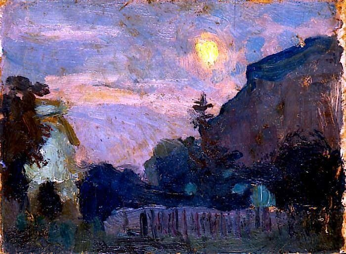 alongtimealone:  Jan Stanisławski (1860-1907)  Moonlit Evening (c. 1900)