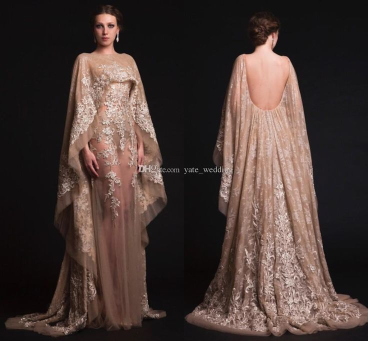2015 Spring Krikor Jabotian Evening Dresses Custom Made Plus Size Champagne Backless Sheer Prom Dresses 2016 New Arrival Formal Dresses Gown from Yate_wedding,$195.03 | DHgate.com