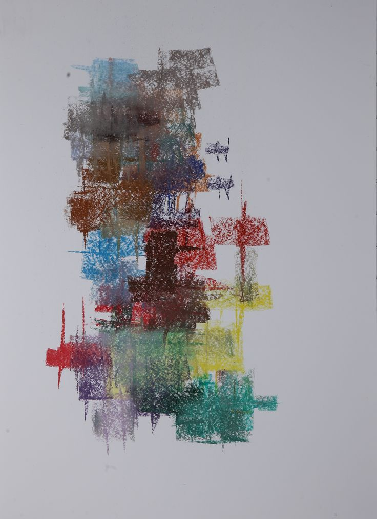 Michael Třeštík, 400 colors on 10 sheets, series I, No. 3, 2016, pastel A1