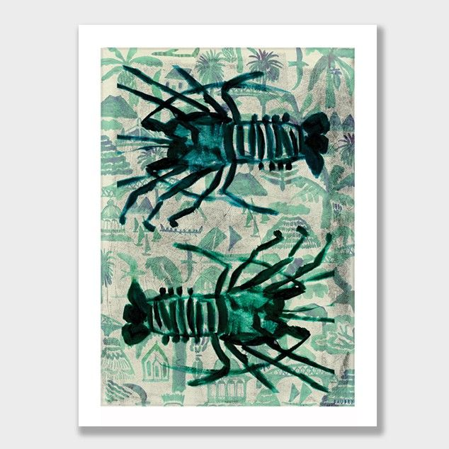 Kaimoana Double Cray Art Print by Lisa Baudry