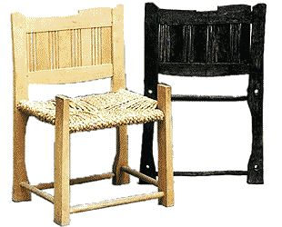 Reconstruction of the Lund chair, with original chair back.
