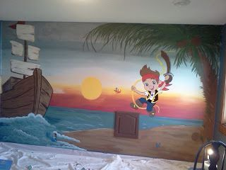 77 best Murals images on Pinterest | Child room, Pirate bedroom ...