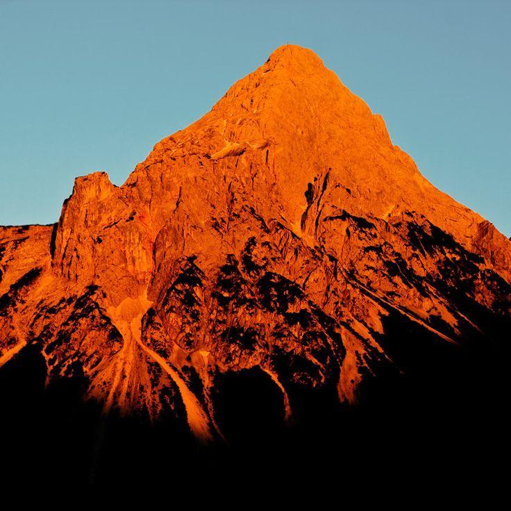 alpenglow - Oliver Nieder: Orange, Mountain, Inspiration, Color, Beautiful, Oliver Nieder, Landscapes, Photography