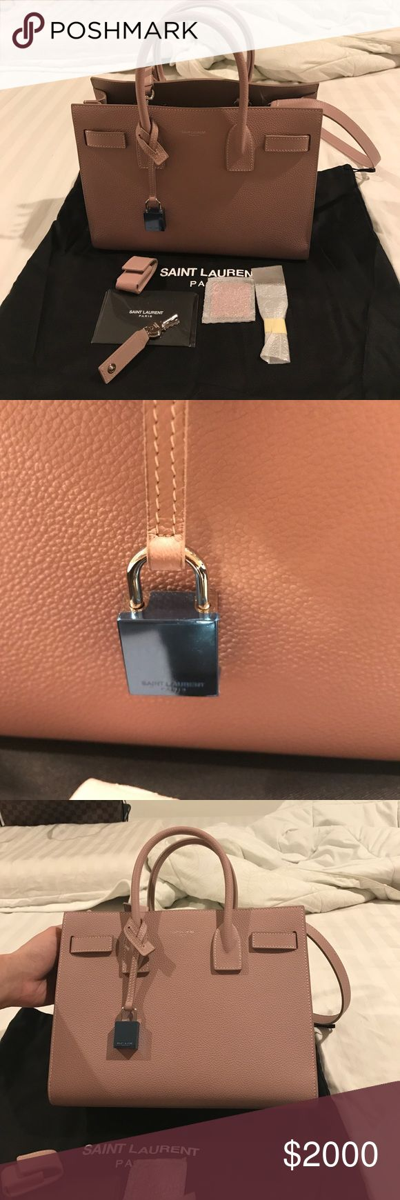 Saint Laurent Paris bag Authentic new saint laurent Paris but with no tags. The plastic cover on the lock still hasn't remove. Still got all the accessories that come with the bag. Feel free to ask questions. Saint Laurent Bags Satchels
