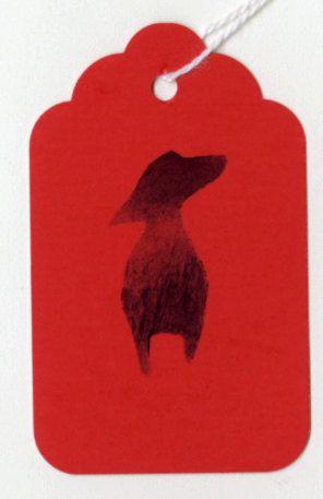 Dachshund Gift Tags by annewatkins #Gift_Card #Dachshund #annewatkins