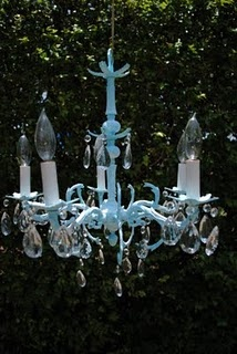 How to paint a chandelier.