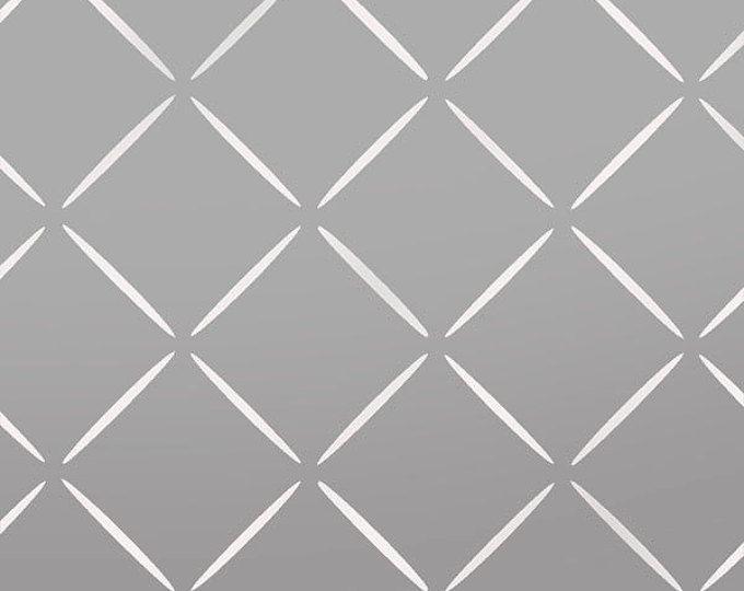 Diamant-Gitter Schablone zuhause dekorieren malen Schablone, grosse Wand Schablone siehe Bilder/Größen