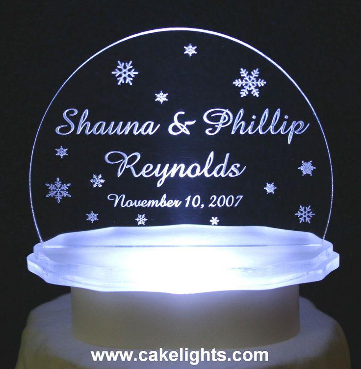68 best Lighted Wedding Cake Tops images on Pinterest | Cake ...