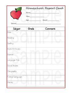 It is a picture of Divine Homeschool Progress Report Printable