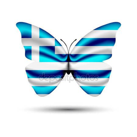 Greece flag butterfly — Stock Vector © jackreznor #139867460