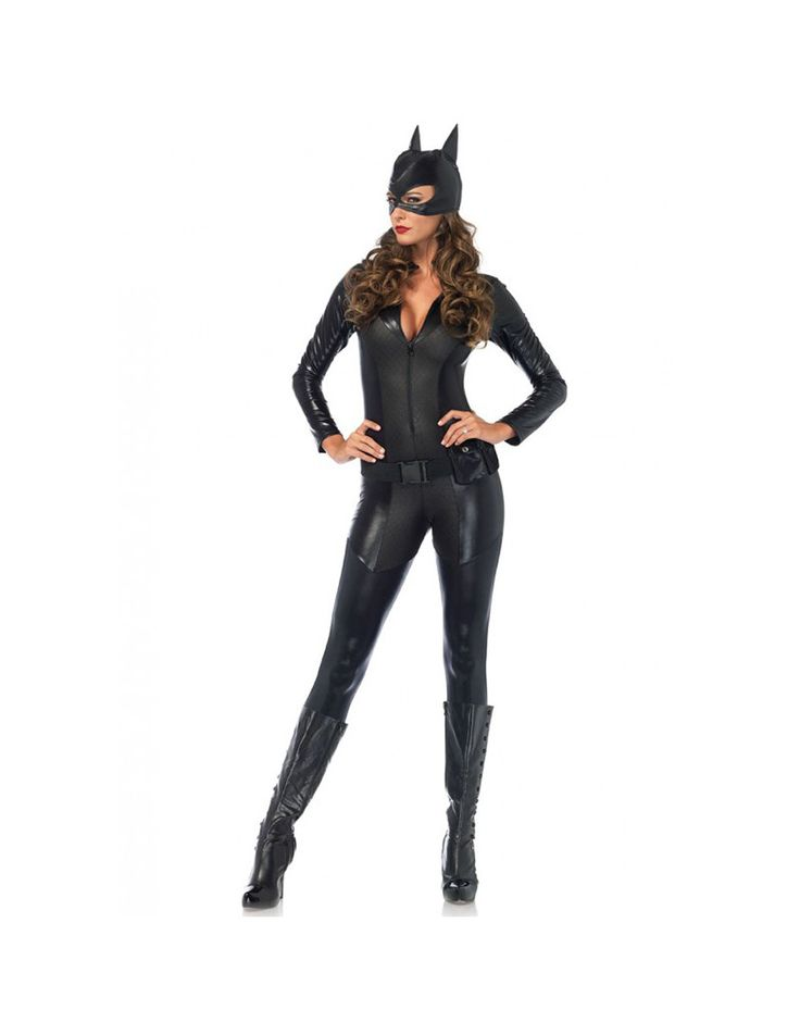 Captivating Crime Fighter Cat Woman Costume