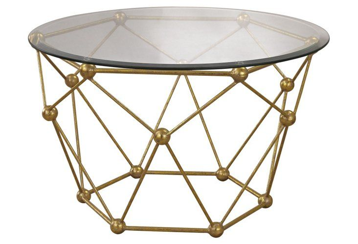 Corey Coffee Table, Gold