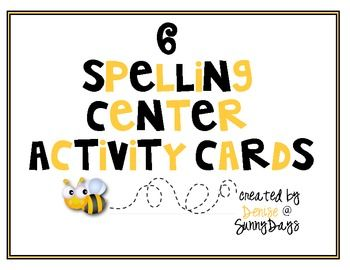 FREE Spelling Center Activity Cards-6 activity cards that make setting up and differentiating spelling centers a breeze! (TpT)