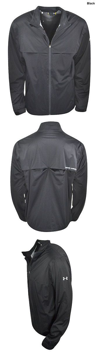 Coats and Jackets 181134: New Under Armour Golf- Storm Rain Jacket Black Size Large Um9439 BUY IT NOW ONLY: $99.99