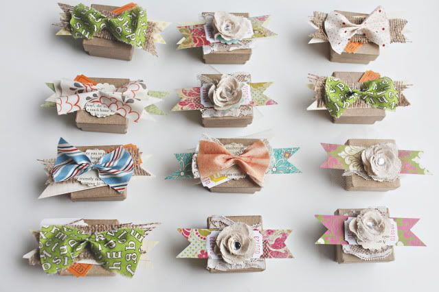 cute packaging.: Little Boxes, Gift Boxes, Wedding Crafts, Parties Favors, Favor Boxes, Flowers Boxes, Favors Boxes, Fabrics Flowers, Gifts Boxes
