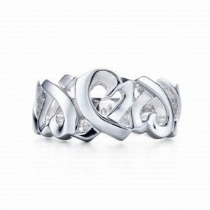 Tiffany Outlet Picasso Loving Heart Emhahement Ring Abstract
