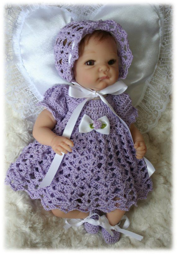 Crochet Pattern 6 Dress Set For 10 In To 12 In Baby Dolls Etsy Crochet Doll Clothes Patterns Crochet Doll Clothes Baby Doll Clothes