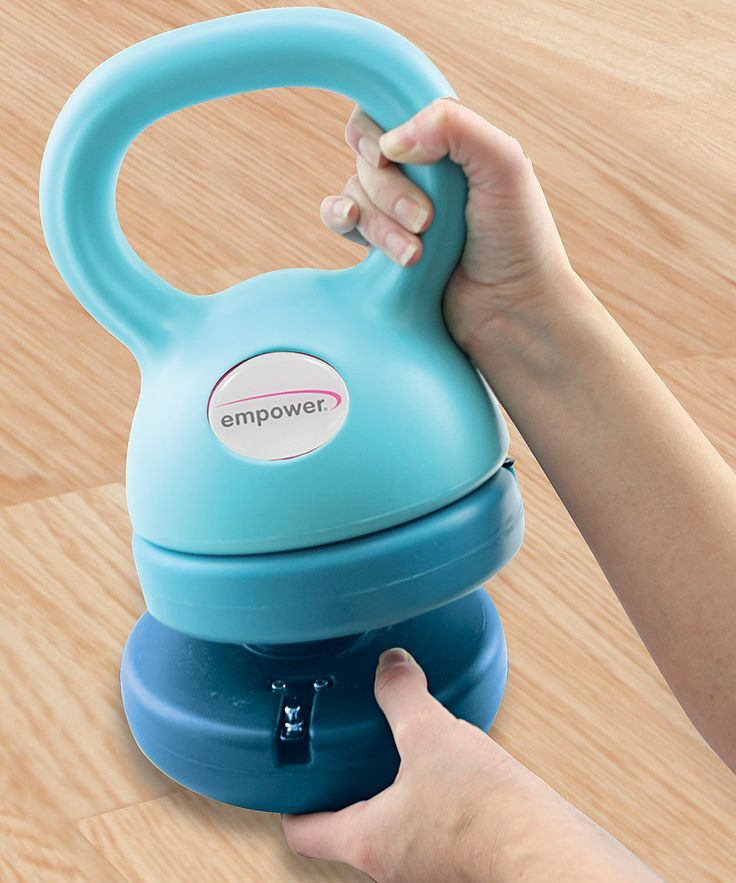 Empower 3-in-1 Kettlebell & DVD Set | This adjustable kettlebell features 5-pound, 8-pound and 12-pound settings, so each session can be specifically tailored to your needs. This set also comes complete with a guided workout DVD to help build better daily routines.