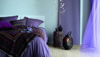 Ambiance chambre violette - Saint Maclou