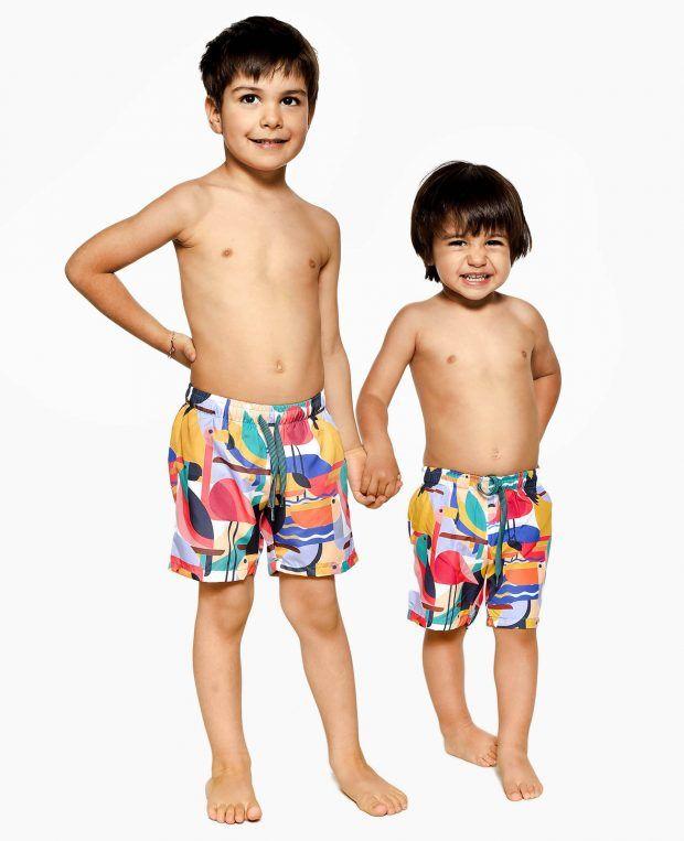edb19dcbc8 Boy Patterned Swim Shorts BAHAMAS