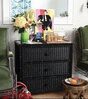 Black Wicker Bedroom Furniture Design Ideas