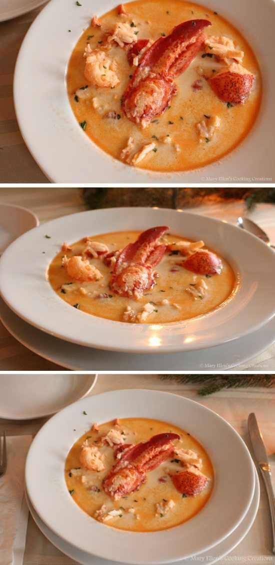 Maine Lobster Stew - healthy, lemon, lobster, milk, paprika, recipes, seafood