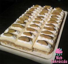 Sütemény az országtorta mintájára szeletben