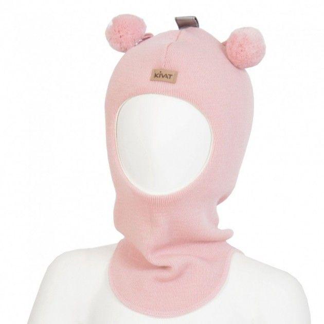 Kivat lue, lyserosa balaclava med refleks og dusker | DressMyKid.no - Barn og baby - Alltid gode tilbud