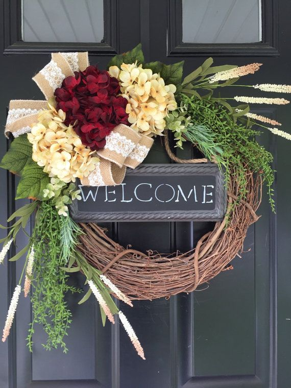 Everyday Wreath Wreath Welcome Wreath Country by jennyCmoon