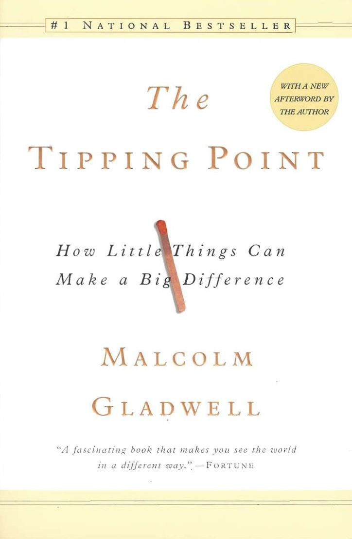 The Tipping Point by Malcolm Gladwell.Worth Reading, Big Difference, Little Things, Point, Malcolm Gladwell, Book Worth, Business Book, Mr. Big, Reading Lists