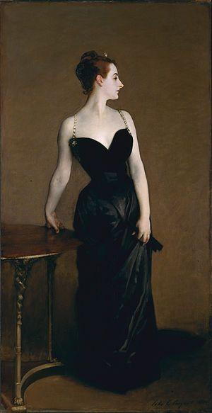 Madame X (Madame Pierre Gautreau), by John Singer Sargent, 1884.