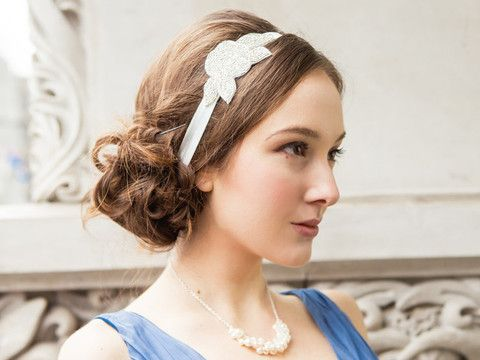 Beautiful headpieces by Dave & Chiyo.  Beatrix Headband : Silver http://www.davieandchiyo.com/collections/hair-accessories